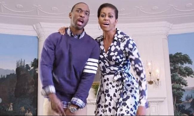 بعد الرقص.. ميشيل أوباما تغني الراب