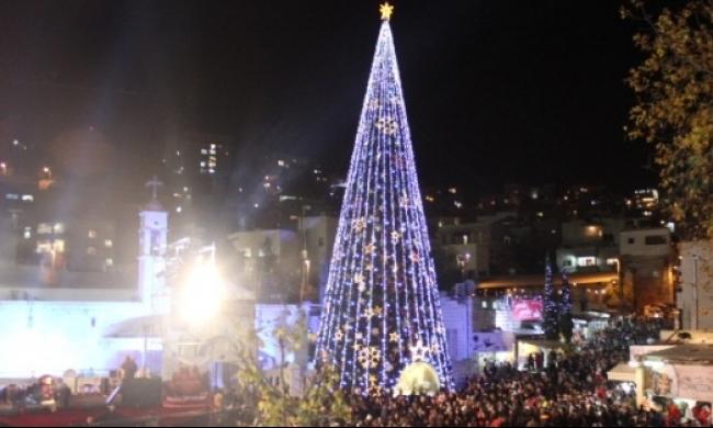 الناصرة: إضاءة شجرة الميلاد مساء اليوم في منطقة العين