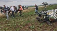 سقوط طائرة خفيفة قرب قلنسوة وإصابة طيّارها من المكر