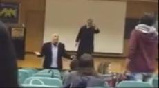 الطلاب العرب يتصدّون لسياسي مصري مطبّع في جامعة حيفا
