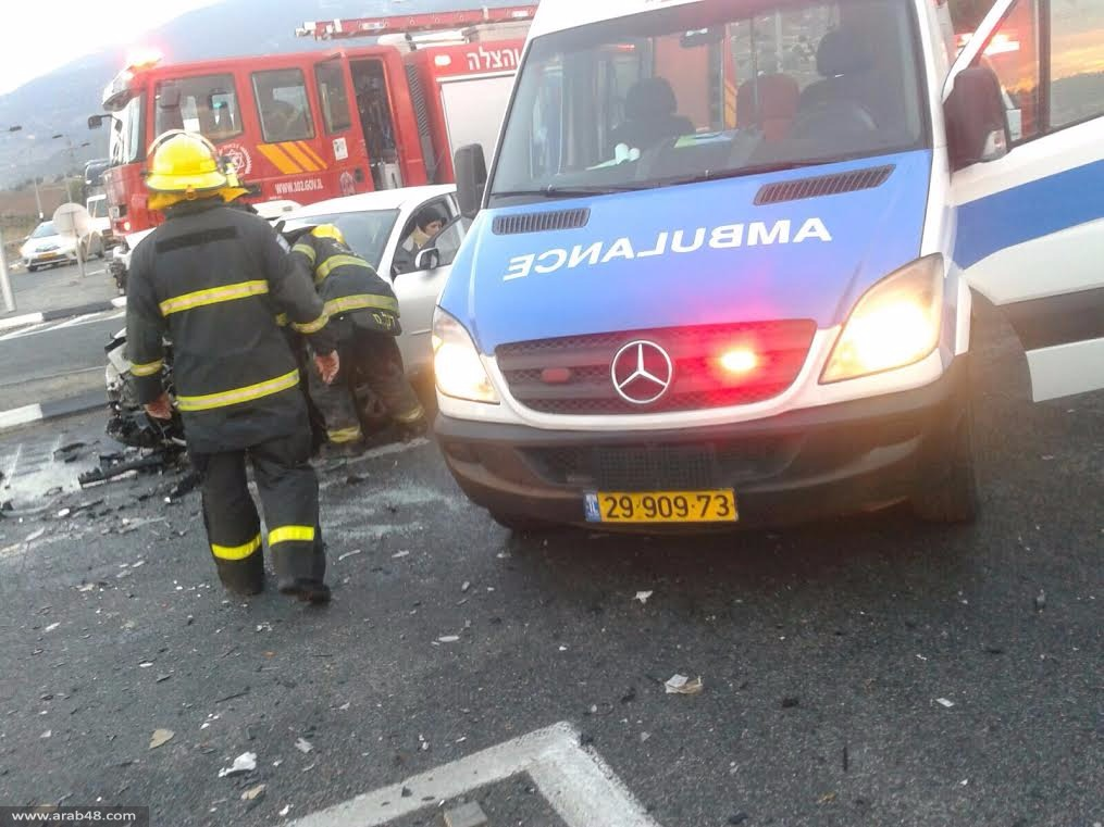 إصابة شاب بحادث مروع قرب المغار