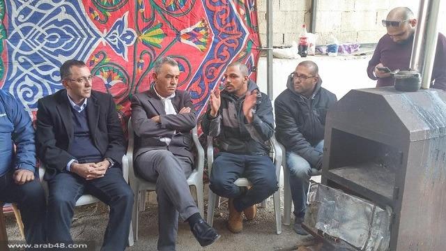 التجمع يتضامن مع أبو صبيح وأبو عيشة في خيمة الاعتصام بالقدس