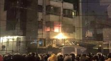 حرق السفارة السعودية في طهران والقنصلية في مشهد
