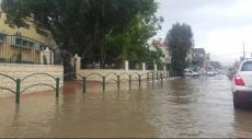 الشاغور: الأمطار تتسبب بفيضانات وتغمر الشوارع