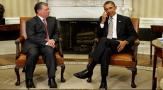 أوباما يجتمع مع عبد الله الثاني في قاعدة عسكرية