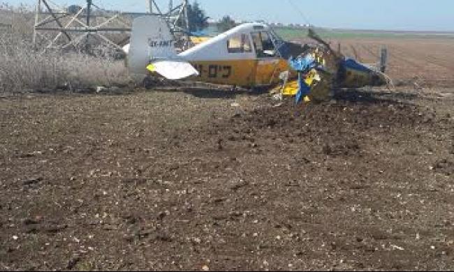 الناعورة: تحطم طائرة رش مبيدات وإصابة الطيار