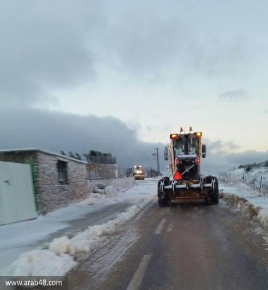 استمرار تساقط الثلوج في جبل الشيخ والجولان المحتل