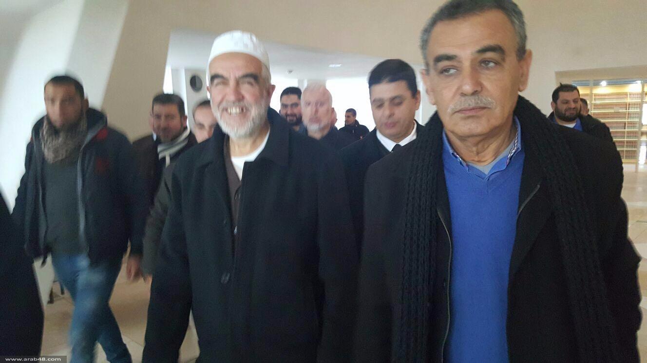 انتهاء جلسة استئناف الشيخ رائد صلاح على قرار سجنه