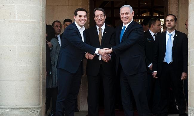 """اتفاق إسرائيلي يوناني قبرصي على """"تحالف إقليمي"""""""