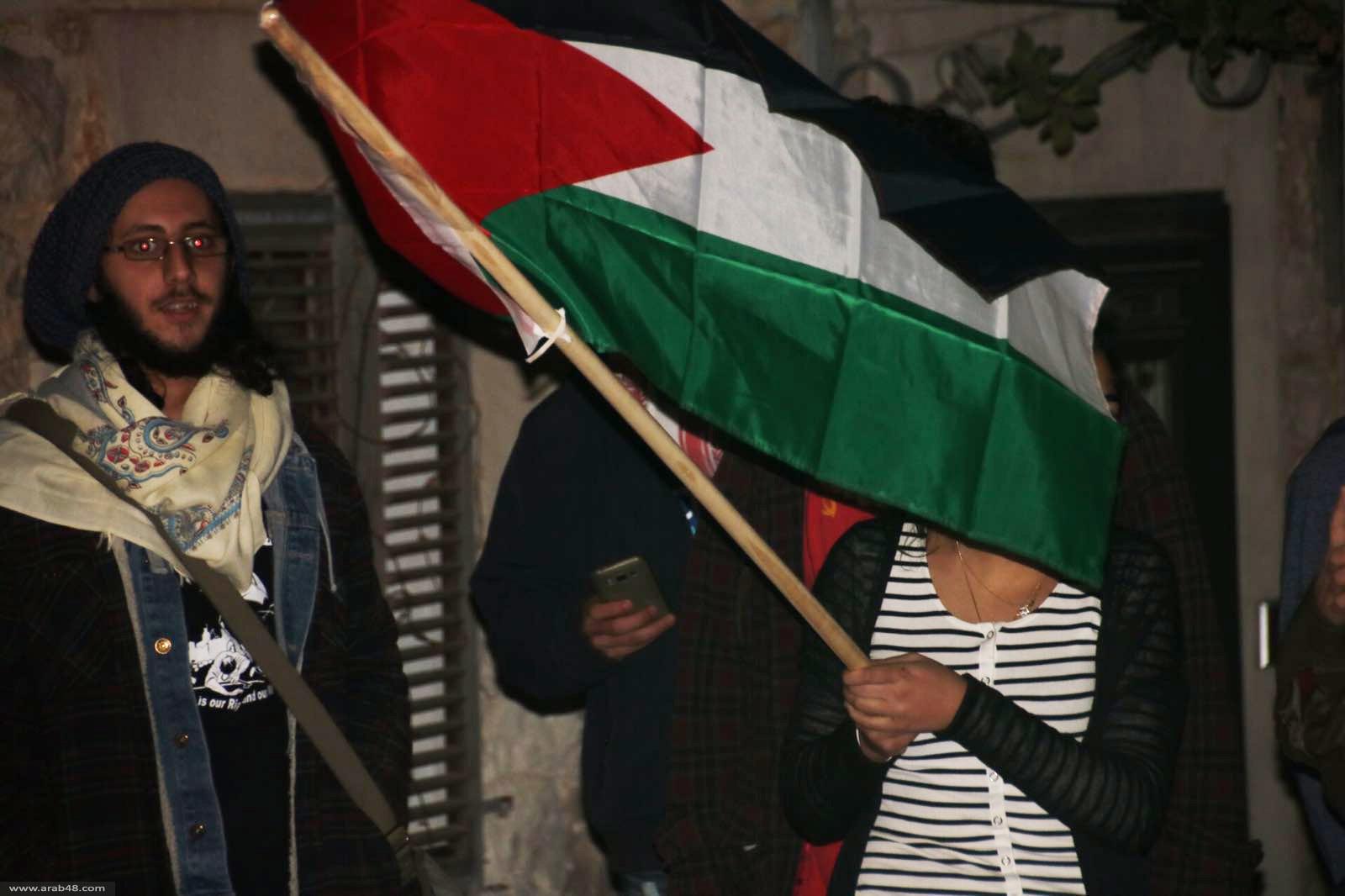 حيفا: العشرات يتظاهرون نصرة للقيق