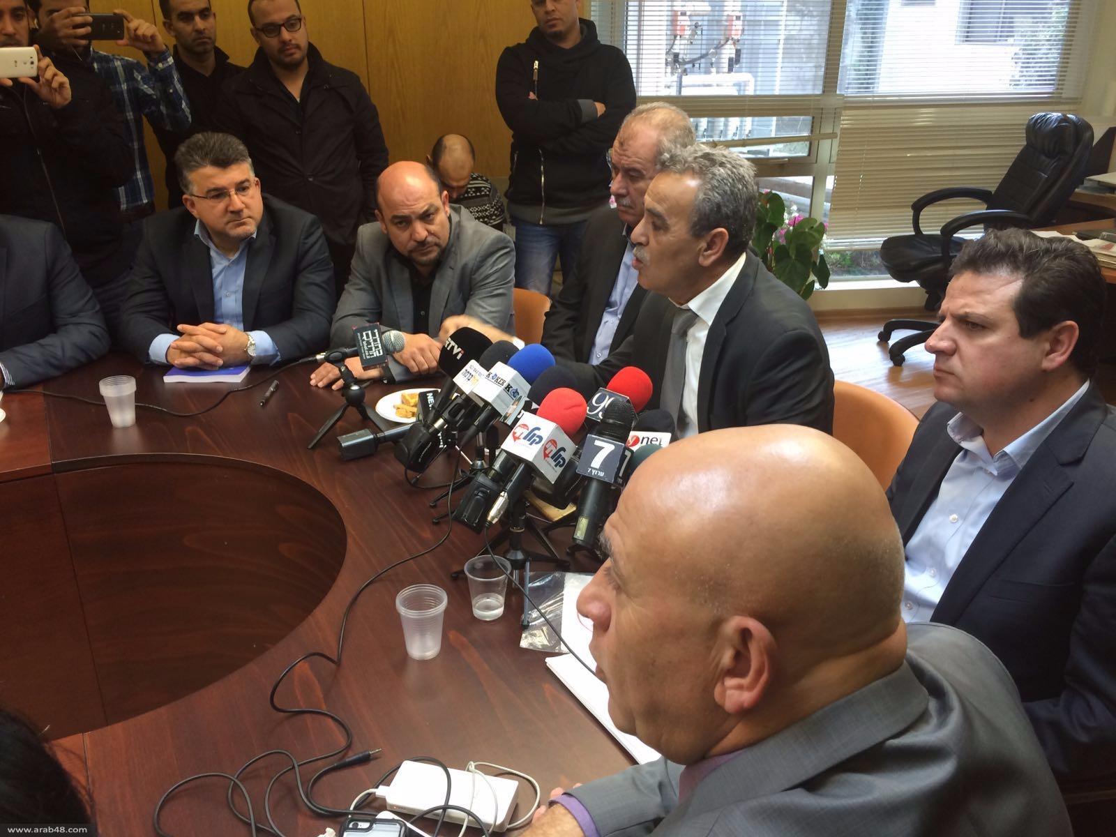 القائمة المشتركة تعقد اجتماعًا في الكنيست: نتنياهو محرّض