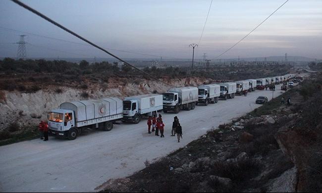 وصول قوافل إغاثة إلى 5 مدن سورية محاصرة