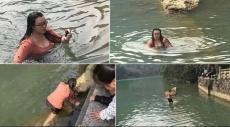 """قفزت في بحيرة متجمدة لإنقاذ """"آيفون""""!"""