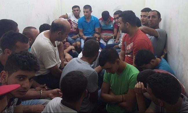اعتقال 44 عاملا من الضفة في منطقة شفاعمرو