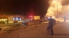 الرينة: إصابة خطيرة باشتعال مركبة جراء حادث طرق