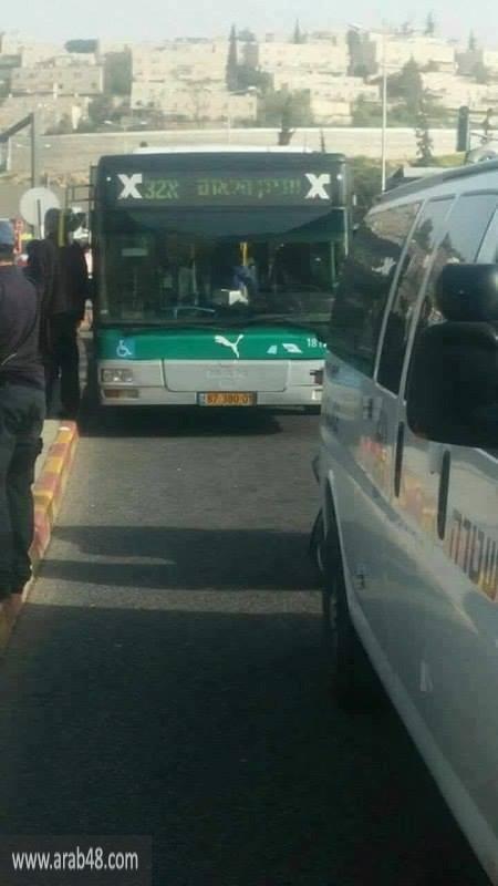 القدس المحتلة: إطلاق نار على حافلة