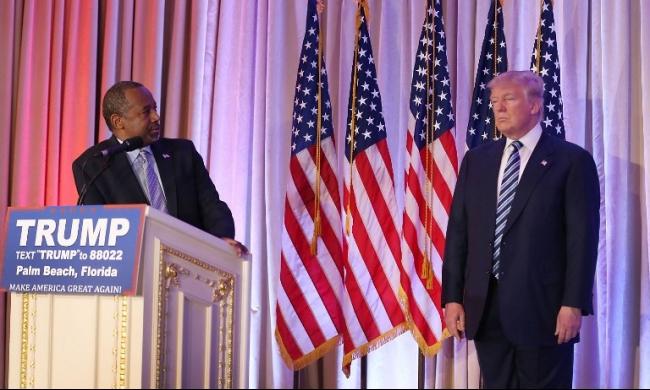 كارسون يعلن تأييده في السباق الرئاسي لترامب