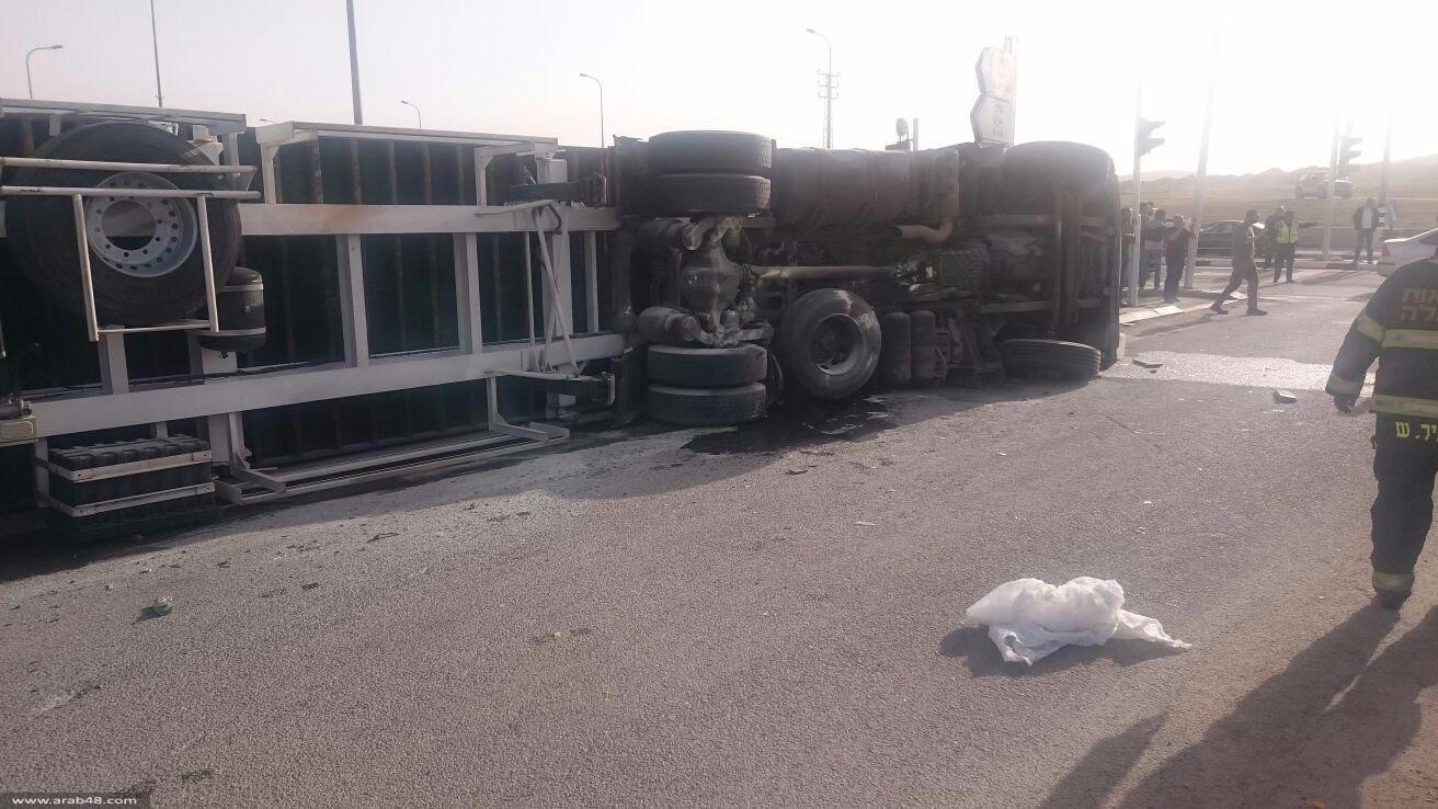 النقب: 24 إصابة إثر حادث سير مروع