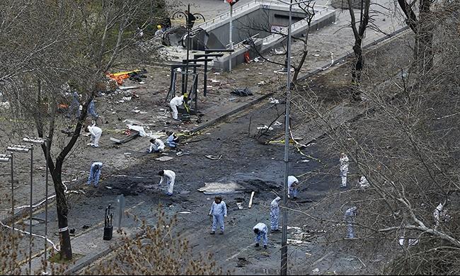داوود أوغلو يؤكد تورط PKK في هجوم أنقرة