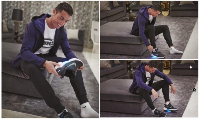شاهد: حذاء نايكي الذكي يذهل رونالدو