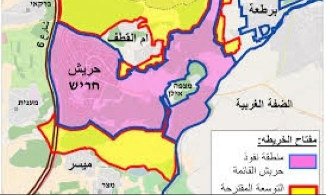 رفض مخطط توسيع حريش على حساب وادي عارة