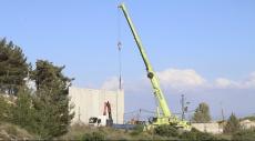 إسرائيل تقيم جدارا إسمنتيا على حدودها مع لبنان