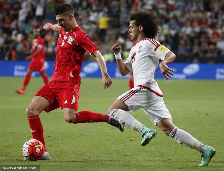 فلسطين تخسر بهدفين أمام الإمارات بالتصفيات الآسيوية