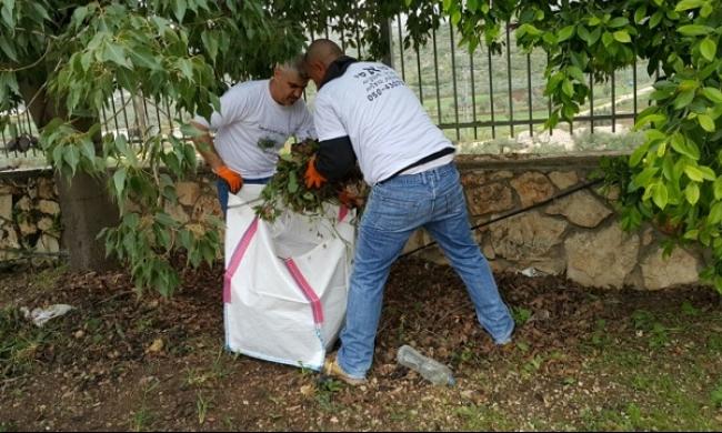 دير حنا: اختتام معسكر عمل تطوعي عشية ذكرى يوم الأرض