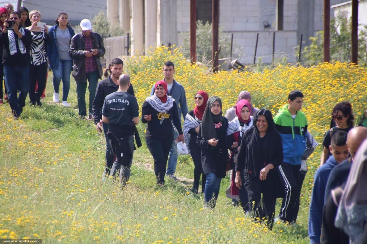 وادي عارة: إحياء يوم الأرض بمسيرة لأراضي الروحة