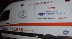 البعنة: نقل رجل مصاب إلى العلاج المكثف بمستشفى نهريا