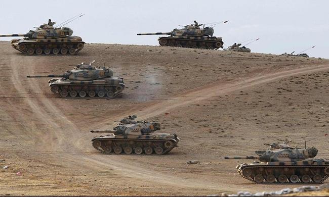 تركيا تقصف أهدافا في سورية