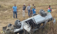 رهط: حادث طرق ذاتي وإصابات إحداها بالغة