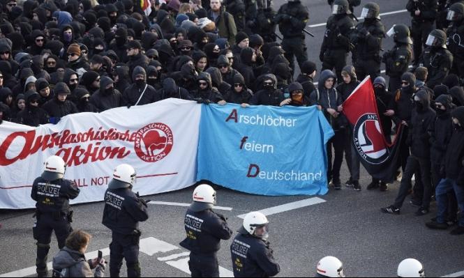 ألمانيا: اعتقال 500 ناشط يساري بمؤتمر لليمين المتطرف