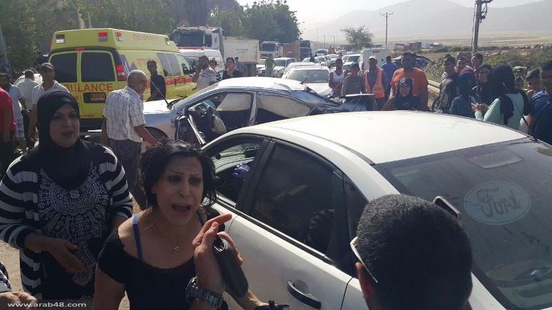 البعينة نجيدات: 4 إصابات إحداها خطيرة بحادث سير