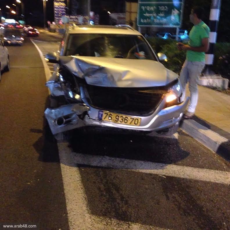كفر ياسيف: 4 إصابات إحداها خطيرة في حادث سير