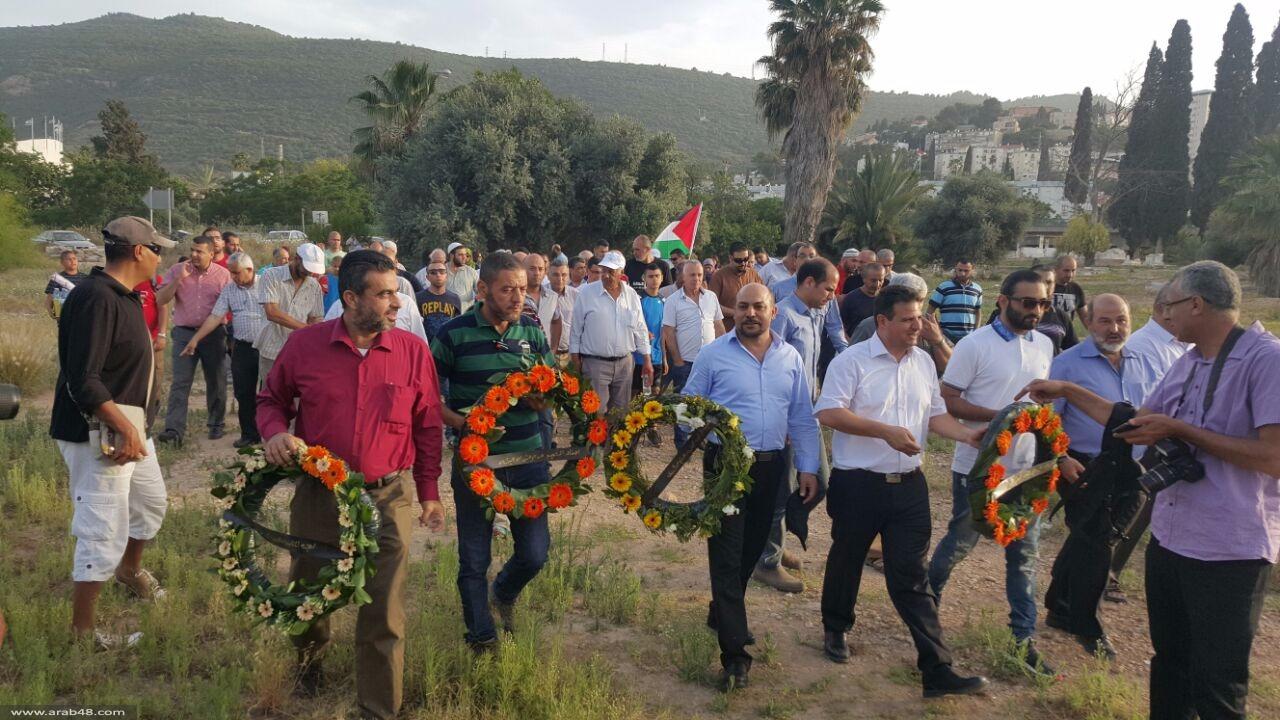 مقبرة القسام: إحياء ذكرى النكبة واحتجاج على التطاول على المقدسات