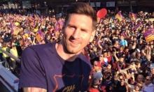كيف احتفل ميسي بلقب الليغا مع برشلونة؟
