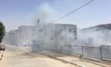 الرينة: حريق قرب المنازل المأهولة