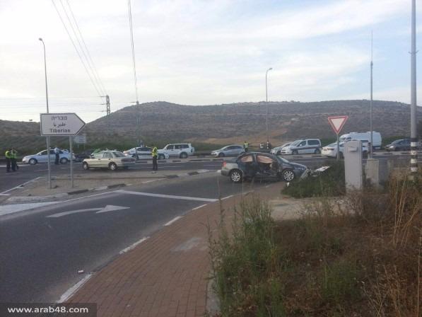 قرب عرب الهيب: مصرع سيدة بحادث طرق مروع