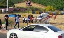عرب الشبلي: إصابة خطيرة لشاب بحادث طرق