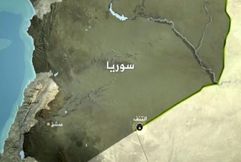 بلدة التنف على المثلث الحدودي العراقي-الأردني-السوري