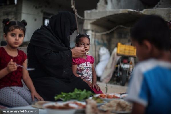 رمضان غزة: الإفطار وسط مخلفات العدوان
