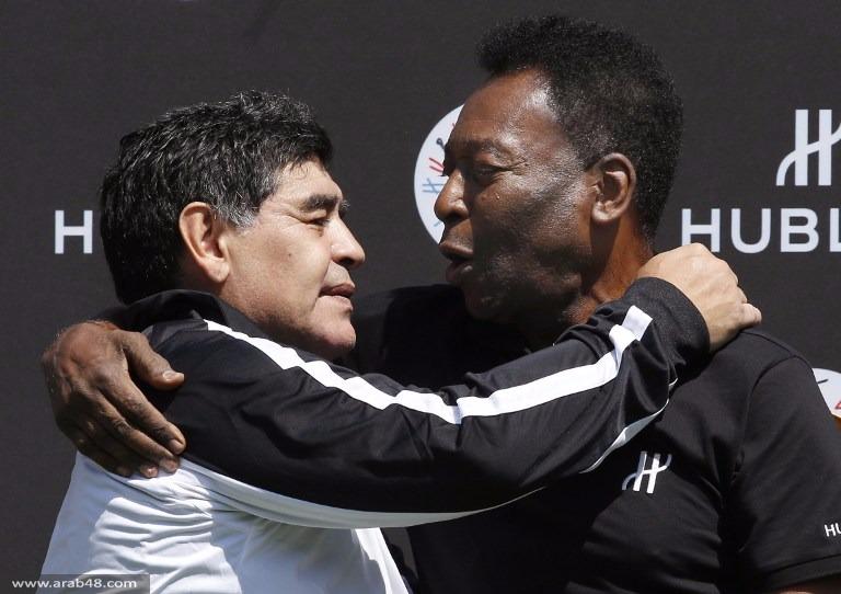 مارادونا وبيليه يلتقيان بمباراة ودية عشية يورو 2016