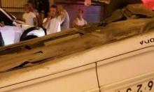 كفر ياسيف: محاولة سطو تتسبب بانقلاب سيارة أجرة
