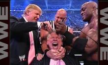 فضائح ترامب: حلق شعره داخل الحلبة وضربه خارجها
