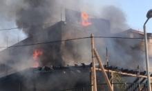 زلفة: حريق هائل في إحدى البنايات