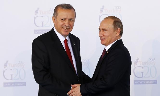 بوتين يوعز بتطبيع العلاقات مع تركيا
