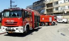 عكا: تخليص عالقين حاصرهم حريق في بناية سكنية