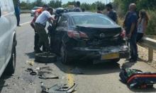 5 إصابات في حادث سير قرب نهاريا