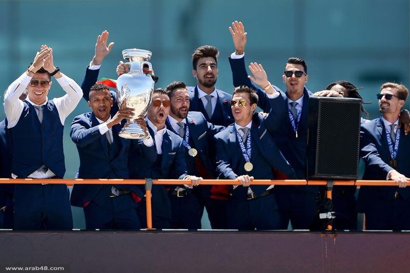 صور: جماهير غفيرة تستقبل بطل يورو 2016